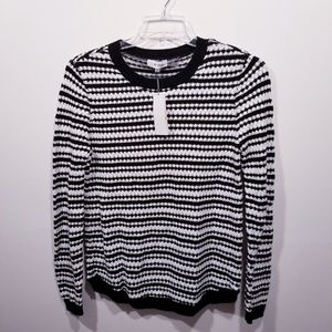 Calvin Klein Striped Cotton Sweater sz Small NWT